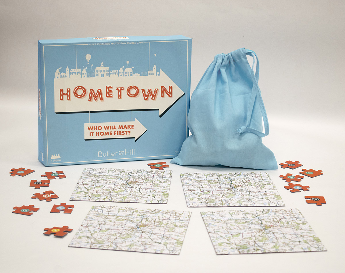 Hometown Map Jigsaw Puzzle Game